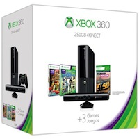 XBox 360E 250G (Slim)+ Kinect+Sports 2+Forza Horizon