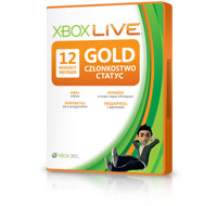 Карточка подсписки с Золотым статусом Xbox LIVE Gold на 12 месяцев