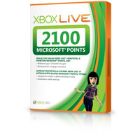 2100 баллов Microsoft Points Xbox Live