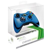 Беспроводной геймад для Xbox 360 Chrome Blue
